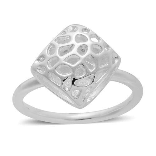 RACHEL GALLEY Sterling Silver Memento Diamond Ring, Silver wt 5.20 Gms.