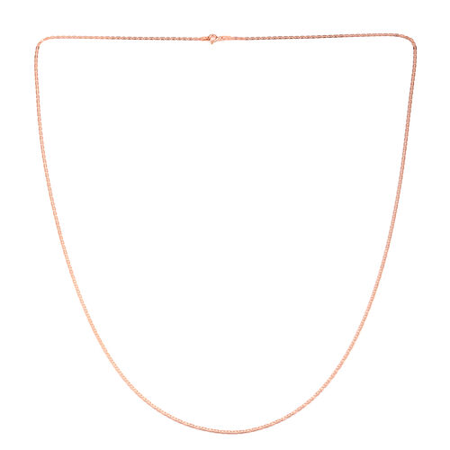 Vicenza Collection Rose Gold Overlay Sterling Silver Valentino Chain (Size 30)