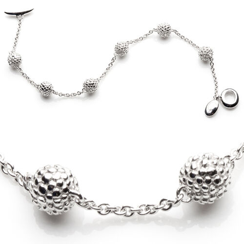 RACHEL GALLEY Sterling Silver Bubble Multi Ball Bracelet, Silver wt 6.00 GM