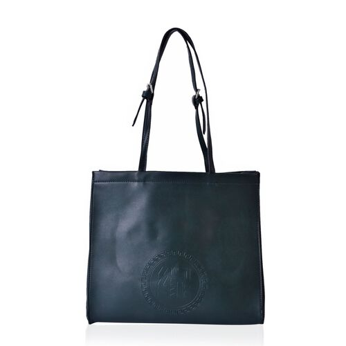 YUAN COLLECTION Olive Green Carryall Tote Bag (Size 33.5x29x11 Cm)