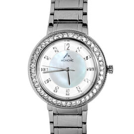 MONCHIC Parker Collection - Lady Cristale Edition Swiss Precision Oscillation Stainless Steel Wrist Watch