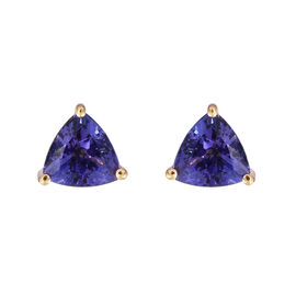 ILIANA 18K Yellow Gold AAA Tanzanite (Trl) Stud Earrings (with Screw Back) 1.250 Ct.