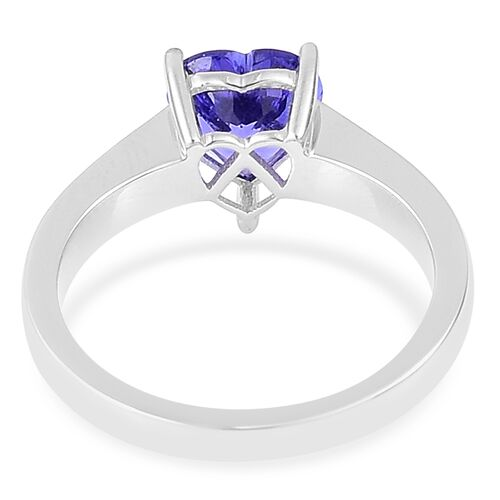 ILIANA 1.50 Carat AAA Tanzanite Heart Solitaire Ring in 18K White Gold