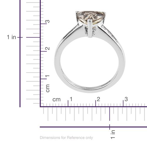 ILIANA 18K White Gold 2.50 Ct AAA Diaspore, Diamond SI G-H Ring