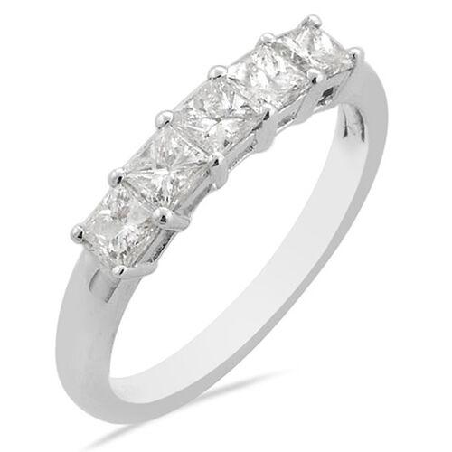 Iliana 950 Platinum IGI Certified Diamond (Sqr) (SI / F-G) Ring  1.00 Ct.