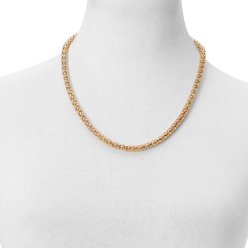 Designer Inspired Popcorn Chain Adjustable Necklace (Size 18 to 30 Inch) in Gold Tone