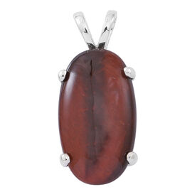 Rare Sized Red Tiger Eye (Ovl) Pendant in Sterling Silver 10.000 Ct.