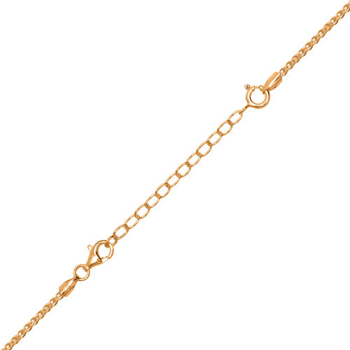 Set of 3 - Yellow Gold Overlay Sterling Silver Chain Extenders (Size 2 Inch, 3 Inch and 4 Inch)