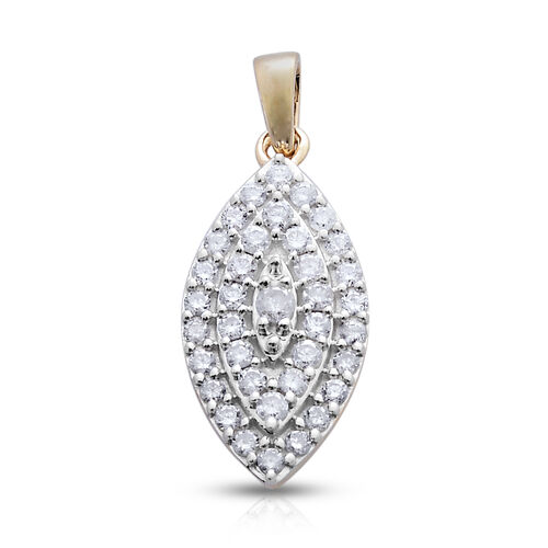 9K Y Gold SGL Certified Diamond (Rnd) (I3/G-H) Pendant 0.505 Ct.
