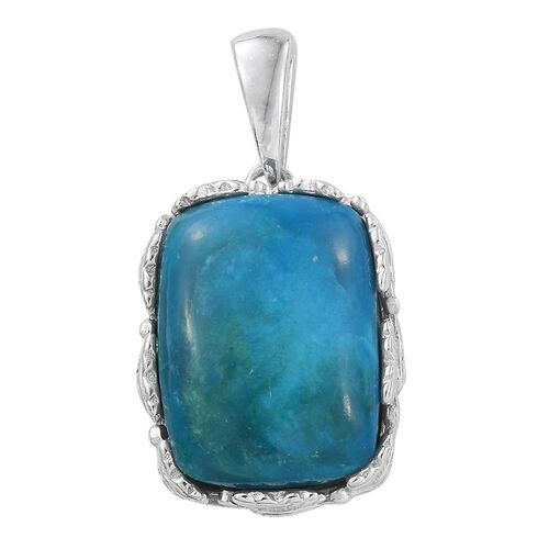 Natural Rare Opalina (Cush) Solitaire Pendant in Platinum Overlay Sterling Silver 7.750 Ct.
