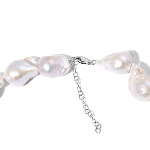 Signature Collection RHAPSODY 950 Platinum Extremely Rare AAAAA Organic Natural Fresh Water (Size 23-28 mm) Pearl Necklace (Size 18 with 2 inch Extender)