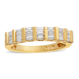 ILIANA 18K Yellow Gold IGI Certified Diamond (Bgt) (SI/G-H) Ring 0.500 Ct.
