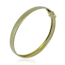 Royal Bali Collection 9K Yellow Gold Diamond Cut Bangle (Size 6 -7 ), Gold wt 3.60 Gms.
