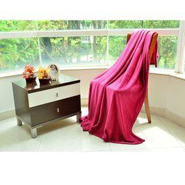 Super Bargain Price- Superfine Burgundy Colour Microfiber Blanket 150x200 cm