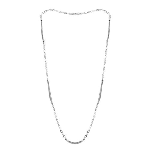 Close Out Deal Rhodium Plated Sterling Silver Necklace (Size 24), Silver wt 6.00 Gms.