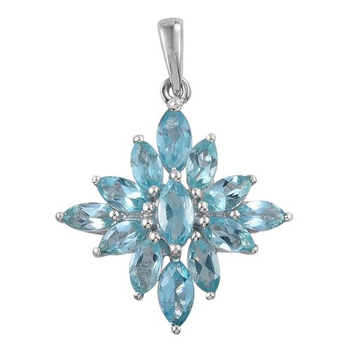 Paraiba Apatite (Mrq) Pendant in Platinum Overlay Sterling Silver 2.250 Ct.