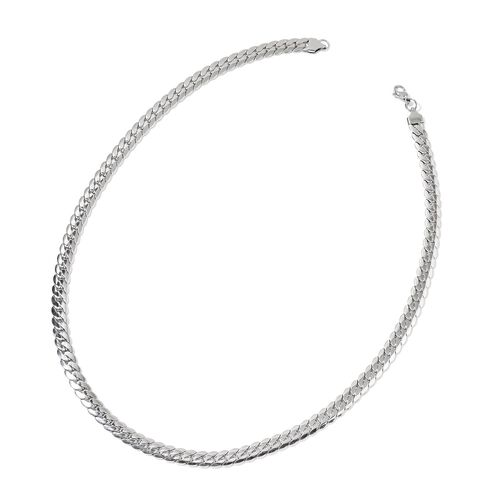 Curb Necklace (Size 24) and Bracelet (Size 7.5 with 2 inch Extender) in Stainless Steel