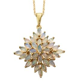 Ethiopian Welo Opal (Mrq) Pendant with Chain in 14K Gold Overlay Sterling Silver 3.000 Ct.