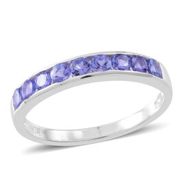 Super Auction - Tanzanite (Rnd) Half Eternity Band Ring in Sterling Silver 1.000 Ct.