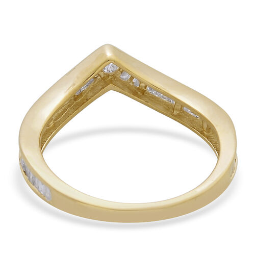 9K Y Gold SGL Certified Diamond (Bgt) (I3/G-H) Wishbone Ring 0.500 Ct.