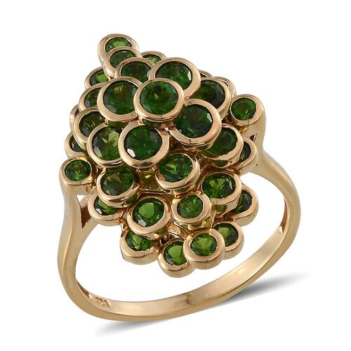 Russian Diopside (Rnd) Ring in 14K Gold Overlay Sterling Silver 4.250 Ct.