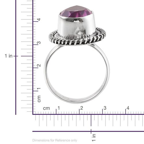Kunzite Colour Quartz (Pear) Solitaire Ring in Sterling Silver 6.030 Ct.