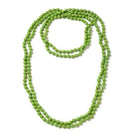 Hongkong Show Deal Green Howlite Beads Necklace (Size 100) 879.500 Ct.