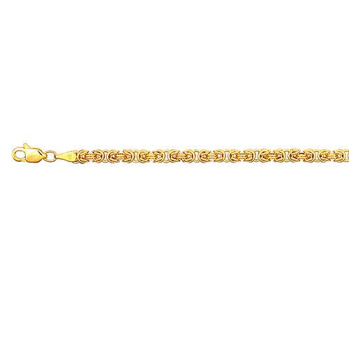 Italian 9K Yellow Gold Byzantine Necklace (Size 30), Gold wt 9.80 Gms.