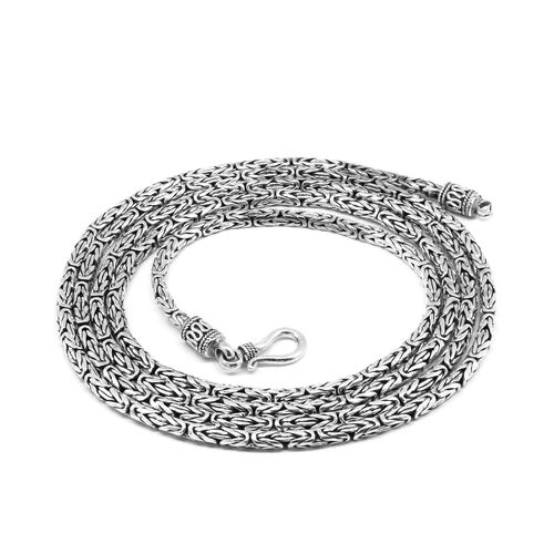 Royal Bali Collection Sterling Silver Borobudur Necklace (Size 36), Silver wt 43.84 Gms.