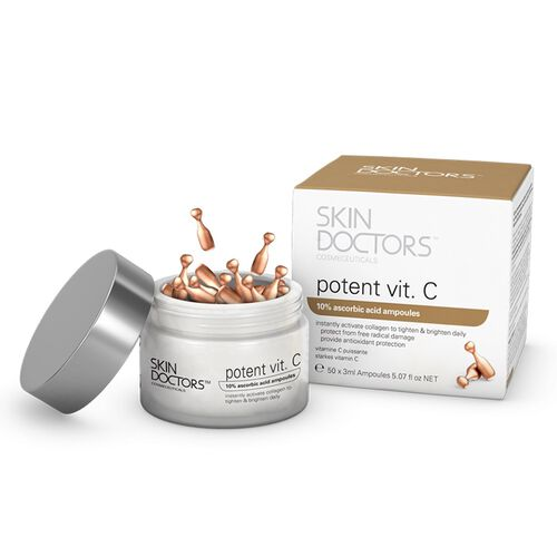 SKIN DOCTORS- Potent Vitamin C Day Ampoules- 50 Ampoules