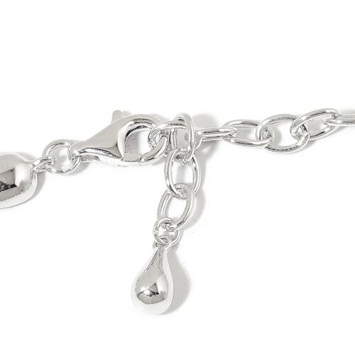 LucyQ Multi Drip Necklace (Size 16.5 with 4 inch Extender) in Rhodium Plated Sterling Silver 81.77 Gms.