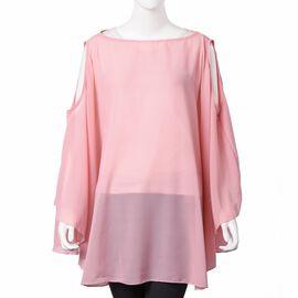 Pink Colour Poncho (Size 142x78 Cm)
