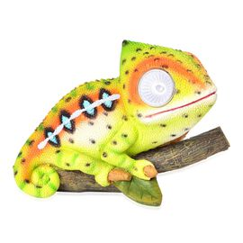 Green, Yellow and Multi Colour LED Solar Chameleon (Size 15X11X8 Cm)