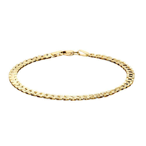 Close Out Deal 9K Y Gold Ribbed Panther Link Bracelet (Size 7), Gold wt 2.00 Gms.