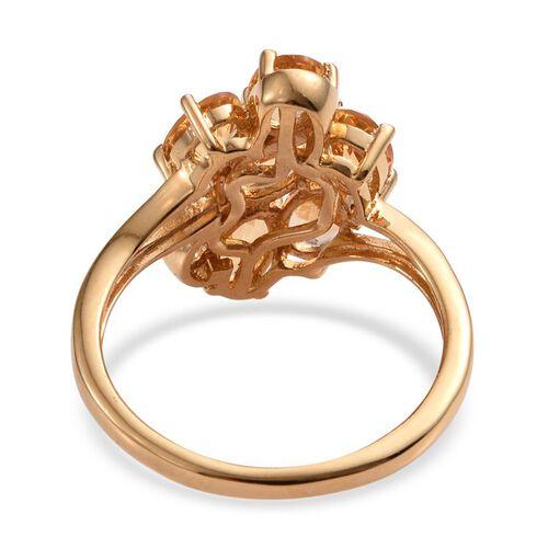 Citrine (Ovl) Ring in 14K Gold Overlay Sterling Silver 2.500 Ct.