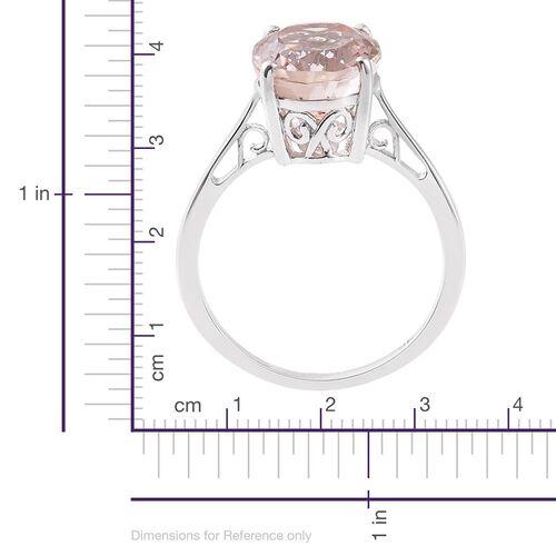 9K White Gold AA Marropino Morganite (Ovl) Solitaire Ring 4.250 Ct.