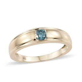 Blue Diamond (I3) Band Ring in 9K Gold  0.25 Carat