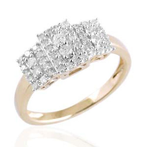9K Y Gold SGL Certified Diamond (Rnd) (I 3/G-H) Ring 0.500 Ct.
