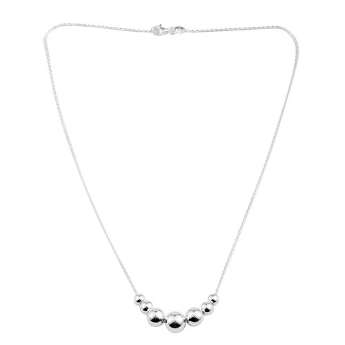 Vicenza Collection - Sterling Silver Beads Necklace (Size 18), Silver wt 4.30 Gms.
