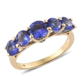 Exclusive Edition ILIANA 18K Y Gold AAA Tanzanite (Rnd), Diamond Ring 2.500 Ct. Gold Wt. 3.20 Gram