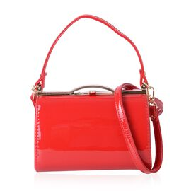 Red Colour Tote Bag with Removable Shoulder Strap (Size 18.5x12x10 Cm)