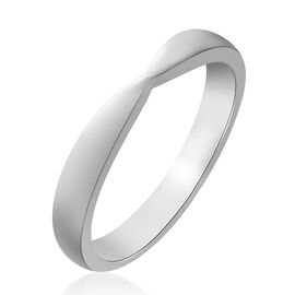 RHAPSODY 950 Platinum Bow Shape 3.3 mm Plain Band Ring, Platinum wt. 4.75 Gms.