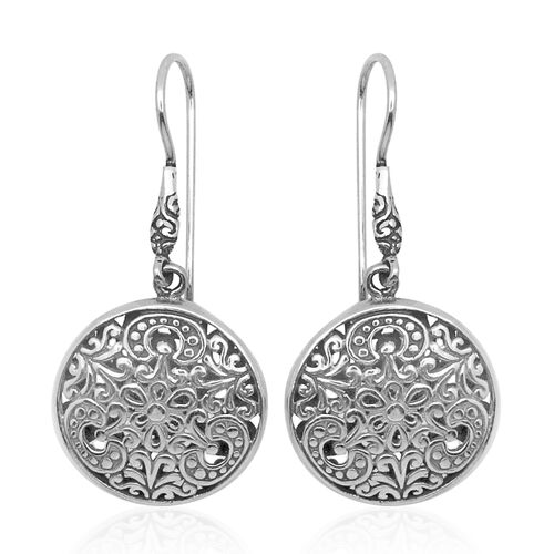 Royal Bali Collection Sterling Silver Hook Earrings, Silver wt 7.03 Gms.
