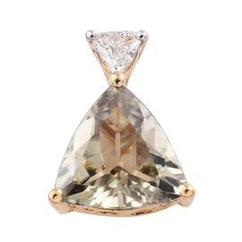 ILIANA 18K Yellow Gold 1.60 Carat AAA Natural Turkizite Pendant with Diamond (SI/G-H)