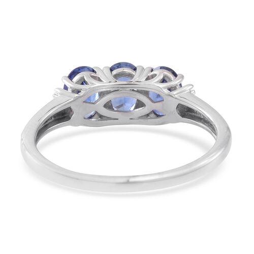 ILIANA 18K W Gold AAAA Ceylon Sapphire (Ovl), Diamond (SI/G-H) Ring 2.500 Ct.