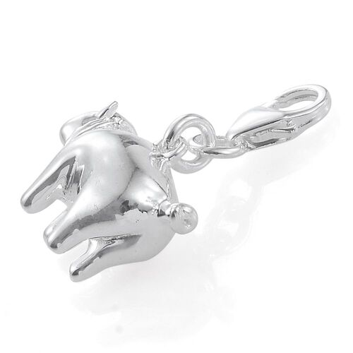 Sterling Silver Pig Charm, Silver wt 5.34 Gms.