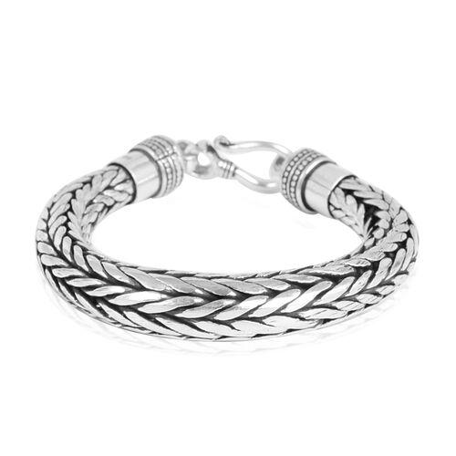Royal Bali Sterling Silver Foxtail Bracelet (7.25 Inch) ,Silver wt 86.80 Gms.