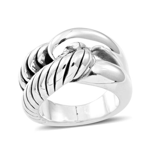 Designer Inspired Sterling Silver Ring, Silver wt 8.00 Gms.
