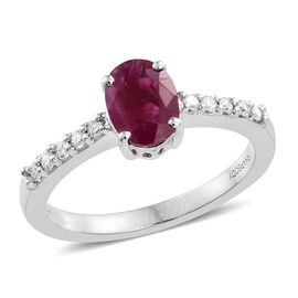 RHAPSODY 950 Platinum 1.60 Ct AAAA Burmese Ruby and Diamond  (VS/E-F) Ring