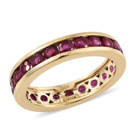 ILIANA 2.30 Ct AAA Burmese Ruby Full Eternity Ring in 18K Gold